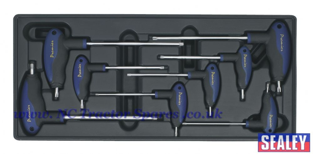 Tool Tray with T-Handle TRX-Star Key Set 8pc